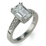 3 ct. Emerald Cut Diamond Ring
