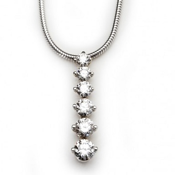 Six Diamond Pendant
